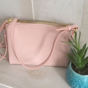 Pink cross body purse